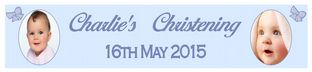 Personalised Boy Christening Banner Design 1